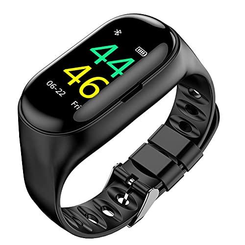 LVYE1 MRMF Pulsera Inteligente Pantalla A Color Bluetooth 5.0 Audífonos Inalámbricos Podómetro Ritmo Cardiaco Presión Sanguínea Monitorear El Movimiento