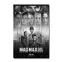 マッドマックス怒りの道映画ウォールアートキャンバス絵画写真ポスターとプリントユニークなアートワーク廊下寝室の装飾-20x30INフレームなし