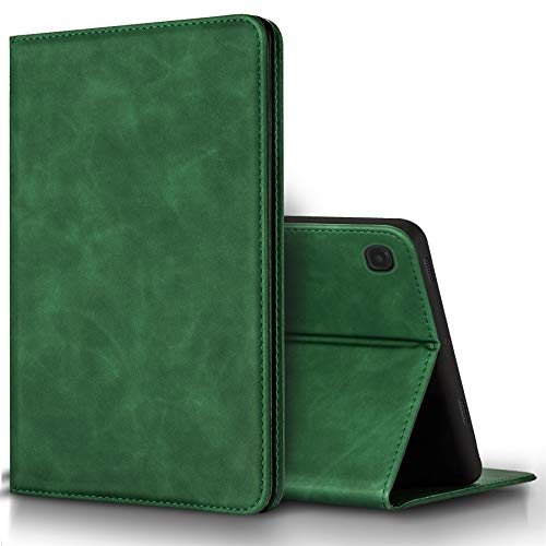 BLUEENZA Samsung Galaxy Tab S5e Case Wallet Slim Cover Leather Case Book Heavy-Duty 360 Protection Shockproof Cover Safe Folio Suede PU [Stand Feature] [3 Card Slot][Photo ID] Green