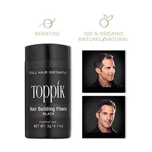 Toppik Hair Building Fibers, Black, 0.11 oz
