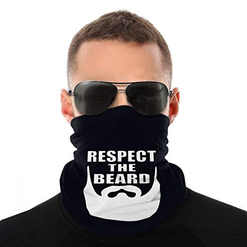 Respetar la barba Headwear - Bandana protectora para el cuello, pasamontañas