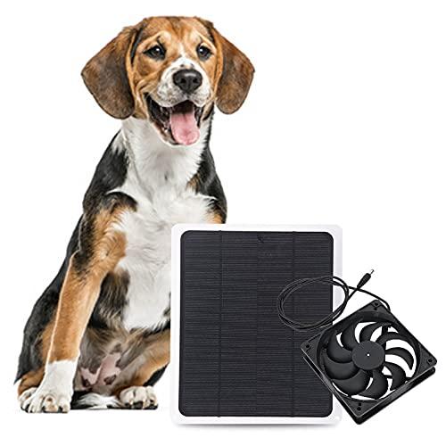 01 Ventilador de Panel Solar, Cargadores de batería Solar Paneles solares para Invernadero para casa de Mascotas para casa en árbol para Coche