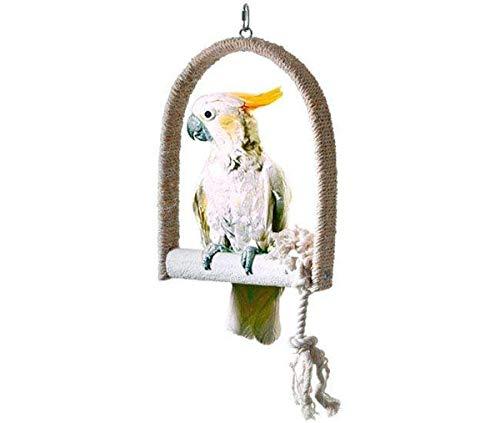 Karlie sisal schommel maat S, 12 x 16 x 2 cm, met kalkvogelstang.