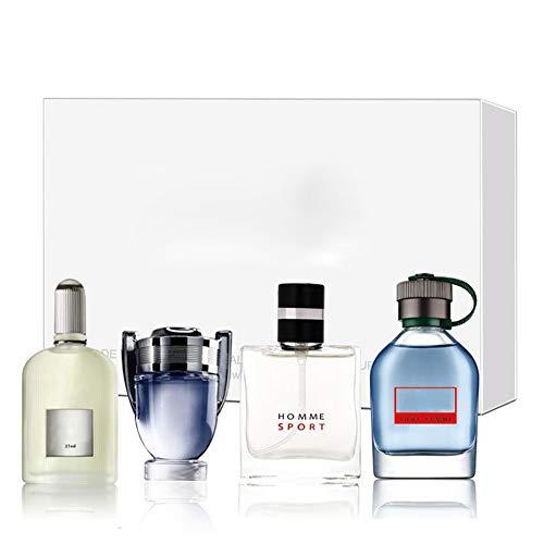 Perfume para Hombre Set, 4 * 25ml Eau de Parfum para Hombre, Eau de Toilette la Tentación de la Fragancia de un Caballero Maduro para Novio Padre Amigo