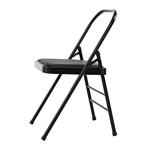 Sport Yoga Chair Iyengar Yoga Chair Sedia Ausiliaria Bold Rafforzamento Pieghevole Invertito Sedia Fitness Azienda Slip Stabile E Durevole Regalo Fitness (Color : Black, Size : 46.5 * 78cm)