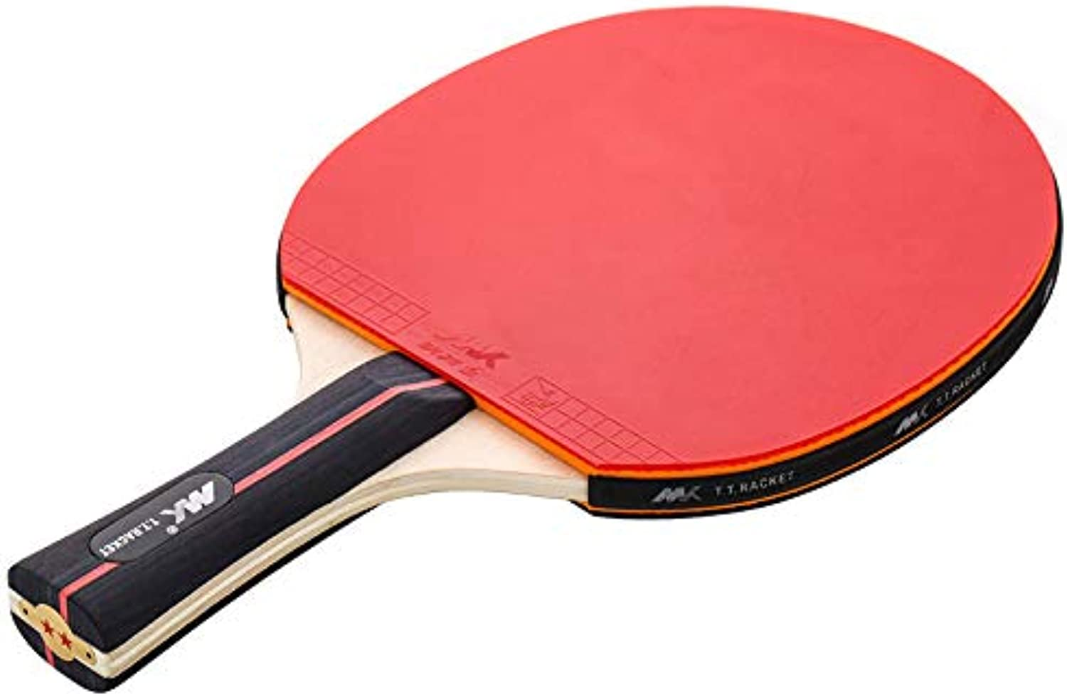 Portable Table Tennis Racket, 5-Layer Beech Wood Quality Rubber Slip Handle, Entertainment Training Table Tennis Racket, Best Equipment for Beginners