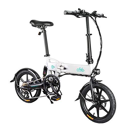 Hot wing Fiido D2 Bicicleta Eléctrica de Velocidad Variable Bicicleta Plegable de Aleación de Aluminio 250W Bicicleta Eléctrica de Alta Potencia con 16 Ruedas