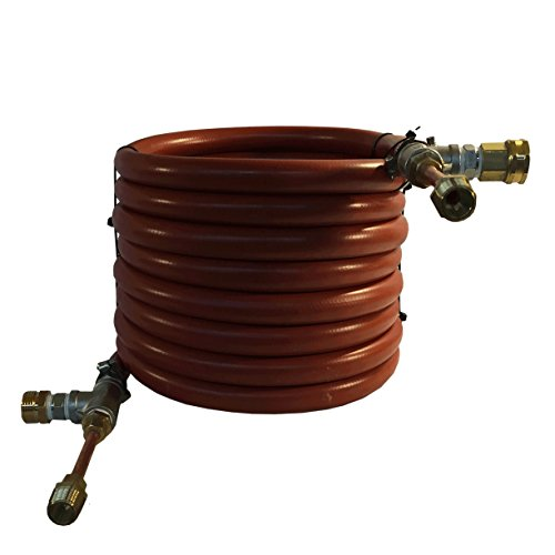 HomeBrewstuff Super efficient CounterFlow Wort Chiller With Optional Valve and Thermometer Upgrade (Just Counterflow Chiller)