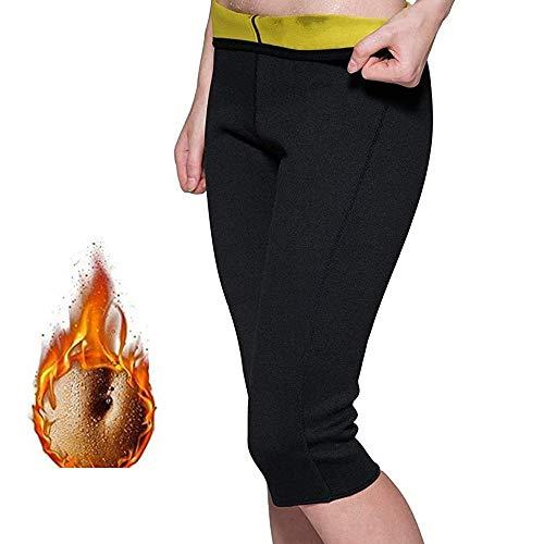 MQSS Guaina Dimagrante Snellente Gambe, Pantaloni snellenti da Donna Hot Thermo Neoprene Sauna Pants Sudore Allenamento Shapewear Shorts di Controllo3XL