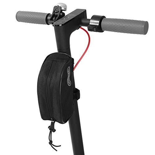SMILEQ Scooter eléctrico Bolsa de Transporte Delantera Bolsa de Almacenamiento para Xiaomi M365 ES1 ES2 ES3 ES4 (Negra)