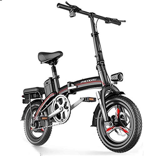 RDJM Bici electrica Bicicletas rápidas y Eléctrica en adultos eléctrico pequeño de...