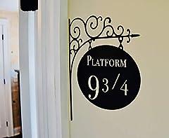 Amikim Platform 9 3/4 Harry Potter Door Nursery Wall Decor Sticker Decal Removable Vinyl Name Wall Art Decal #1