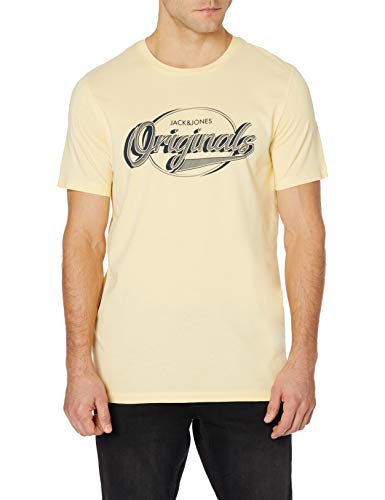 Camiseta Jack&Jones Hombre L Amarillo 12168217 JORBRAD tee SS Crew Neck FLAN Slim JJ