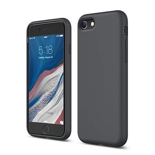 Elago Silicone Liquido Custodia Cover Compatibile con iPhone SE 2020, Compatibile con iPhone 8 e Compatibile con iPhone 7 – Protezione Full Body con Struttura a Tre Strati (Grigio Scuro)