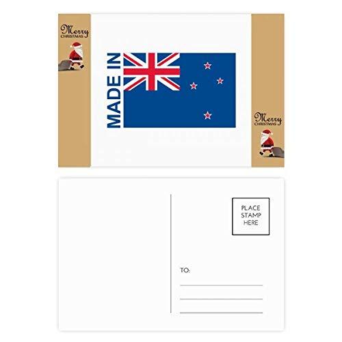 Gemaakt in Nieuw-Zeeland Land Liefde Kerstman Gift Ansichtkaart Thanks Card Mailing 20 stks