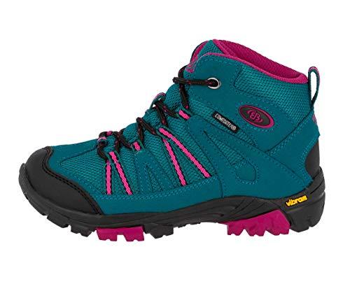 Brütting OHIO HIGH Mädchen Trekking- & Wanderstiefel, Türkis/ Pink, 33 EU