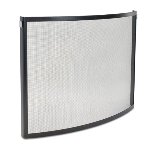Pilgrim, Black and Polished Nickel Home and Hearth 18256 Odessa Bowed Fireplace Screen, 39″W x 31″H 23 lbs