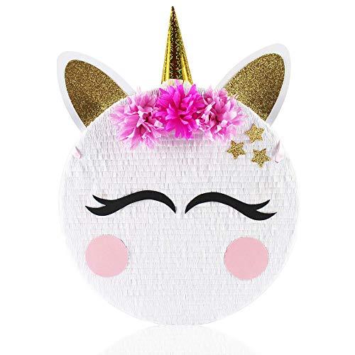 MagicPinatas Piñata Unicornio para rellenar con dulces – Ideal para fiestas de cumpleaños infantiles, idea de regalo, fiesta, Navidad – Pinjata para niños, piñata para niñas, cumpleaños