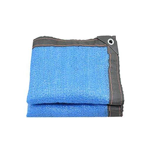 GJM Shop Filet D'ombre Bleu Polyéthylène 6 Broches Épaississement du Cryptage Crème Solaire 85% De Taux D'ombrage De Plein Air Anti-UV Filet D'isolation (Taille : 4 * 5m)