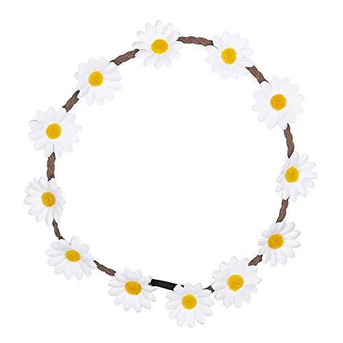 Widmann 95691 – Haarband, mit Gänseblümchen, Haarschmuck, Blumenhaarband, 60er Jahre Outfit, Hippie Kostüme, Sommerfeste, Reggae, Karneval, Motto Party