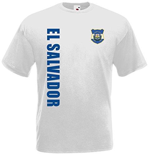EL Salvador WM-2022 T-Shirt Trikot Wunschname Nummer Weiß XXL