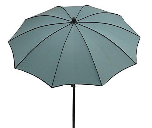 PEGANE Parasol Rond, Tissu dralon Coloris Agua de mar - Dim : 140/10 - D 280 cm