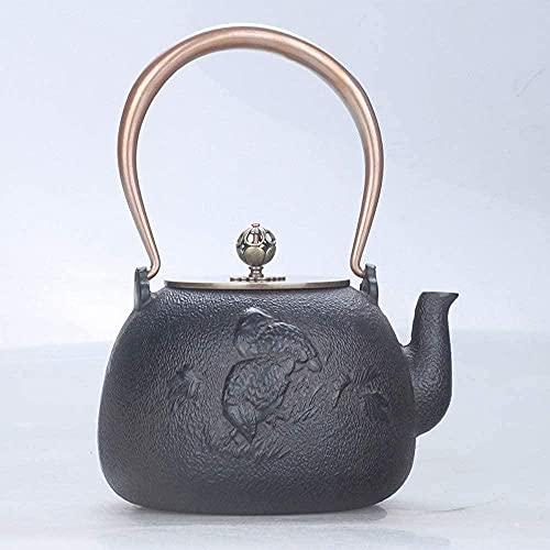 Conjuntos de té de hierro fundido hierro hierro olla vida y ocio cerdo hecho a mano olla de hierro hierro hierro fundido olla de óxido película té hervida