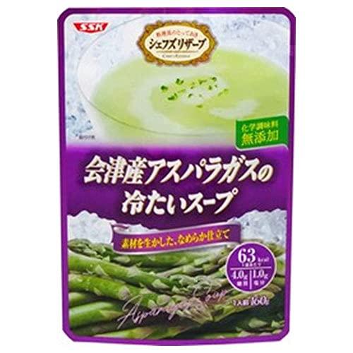 SSK シェフズリザーブ 会津産アスパラガスの冷たいスープ 160g×40袋入×(2ケース)