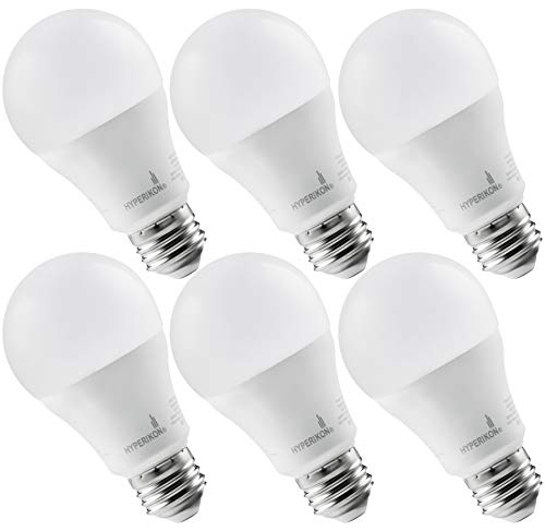 Hyperikon LED A19 Dimmable Bulb 100W Equivalent, Soft White 3000K, UL-Listed LED 14W Bulb (6 Pack)