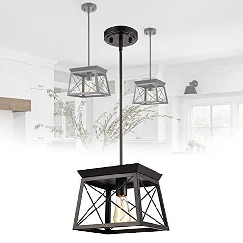 EnweOil Araña Vintage de Granja, Iluminación Industrial de Colgar, Fácil de Instalar, Área de Irradiación 15㎡ -30㎡ para Comedor Cocina,B