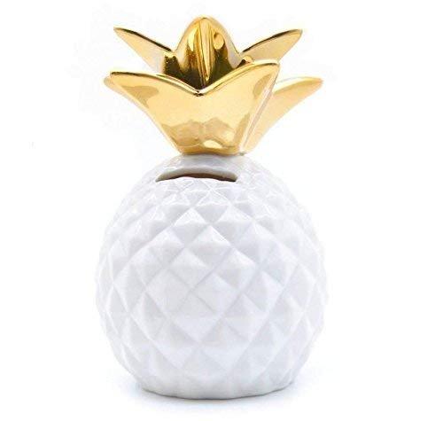 Gwill Piggy Bank Ananas-Münze Dekorative Keramik Ananas Shaped Geld-Dosen Nette Spardosen für Ananas Thema Party Decor Mädchen Kinder Kinder Erwachsene Geburtstag Geschenke
