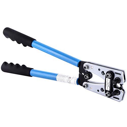 Ejoyous 6-50 mm², crimpadora profesional de acero al carbono, terminales de cable, juego de alicates con mangos antideslizantes y mecanismo de bloqueo