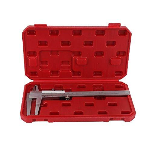 Zixin Micrómetro Gauge, sólida Durable de Acero al Carbono Dentro de la Ranura Vernier de micrómetro Interior Gauge Regla de medición 9-150mm Herramienta