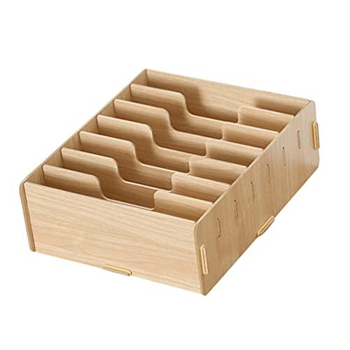 Cabilock Holz Rezept Karte Box Vintage Rezept Schreibwaren Container Papier Datei Bill Unterteilt Box Büro Desktop Veranstalter Für Home Wohnzimmer Schlafzimmer