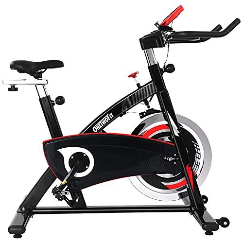 Cyclette da Casa Professional, cyclette con volano pesante da 20 Kg. e trasmissione a cinghia silenziosa, display LCD con sellino imbottito, cyclette da allenamento fitness per gym e Cardio Training