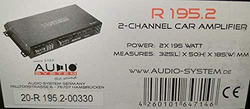 Audio System R 195.2 - 2-Kanal Hochleistungs-Verstärker