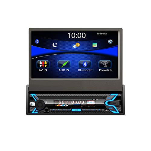 "Radio FM 1DIN para Coche Belson BS-2960W | Potencia 4x40W | Manos Libres Bluetooth | Pantalla táctil TFT de 7"" Pulgadas motorizada | Lector USB y Micro SD Reproductor Mp3 | Mando a Distancia."