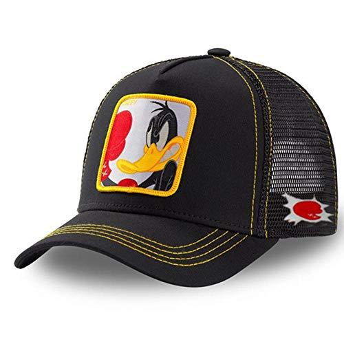 Anime Baseballmütze Herren Damen Hip-Hop Vater Gestrickter Trucker Hat-Box Duck Black.