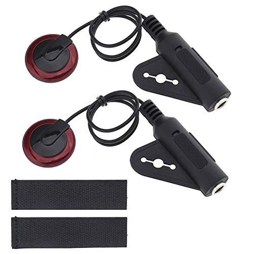 Transductor de micrófono de contacto piezoeléctrico con cable 1/4 hembra Jack 12 pulgadas adhesivo para guitarra Banjo ukelele violín manolina violonchelo Harpes Kalimba