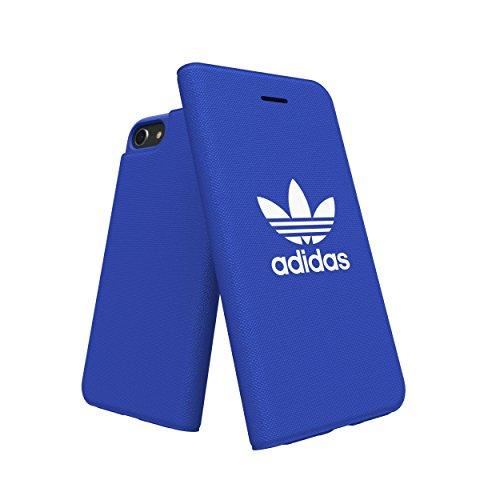 adidas Originals Adicolor - Funda tipo libro para iPhone 8/7/6S/6, color azul