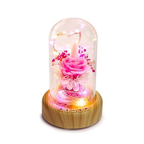GPWDSN draadloze bluetooth-spreker met lichten, creatieve nieuwsgeschenk-droomuitloper, flessen-bloemen-spreker, begeleidend nachtlampje