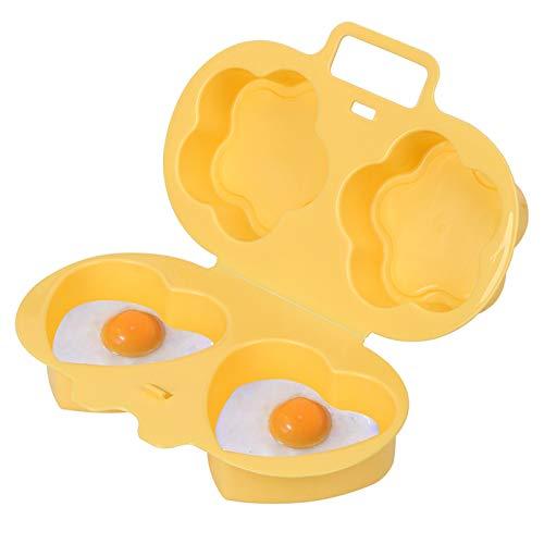 DQDF Microondas Huevo Poacher Molde De Huevo Al Vapor No Pegajoso Cocina Creativa Herramienta De ProduccióN De Desayuno