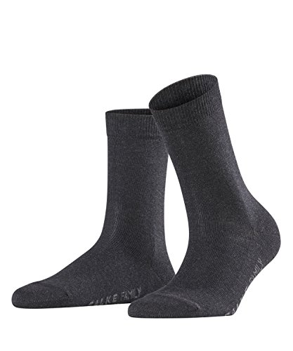 FALKE Damen Socken Family - 94% Baumwolle, 1 Paar, Grau (Anthracite Melange 3089), Größe: 39-42