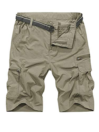 Shorts for Men Hiking Casual Quick Dry, Lightweight Tatical with Pockets Zipper Pockets,Camping, Travel