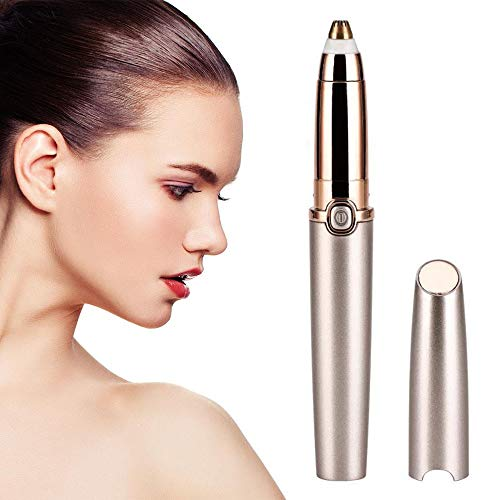 Epilateur Sourcil, Achort Flawless Sourcil Sans Douleur Eyebrow Epilator Portable Mini Rasoir de Femme pour Bras, Aisselles, Ligne du Bikini