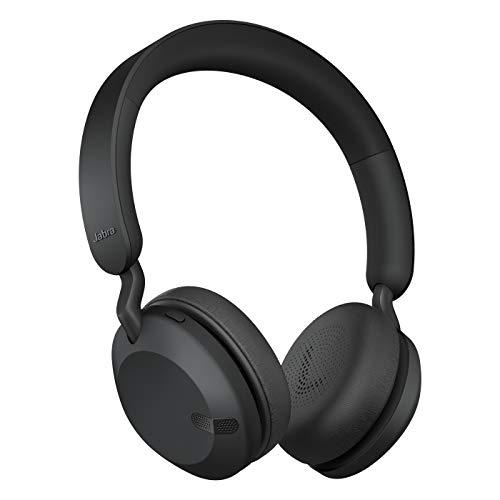 Jabra Elite 45H Cuffie On-Ear Wireless Sovraurali Solide, Pieghevoli e con Autonomia della Batteria Pari a 50 Ore, 2 Microfoni per le Chiamate, Nero, Regolabile