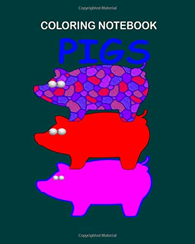 Coloring Book: three little pigs  - 27 sheets, 54 pages - 8 x 10 inches