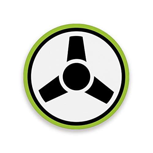 FANTAZIO Untersetzer mit Lenkrad Icon, für Weinglas, Tee-Untersetzer mit verschiedenen Mustern, geeignet für Arten von Tassen und Tassen, Holz, 1, 1 piece set