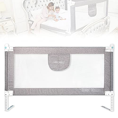 """Bed Rail for Baby 58"""" L, Infant Safety Bed Guardrail, Baby Protector Rail with Breathable Fabric for Beds Above 60"""" in Length (60-1 Side)"""