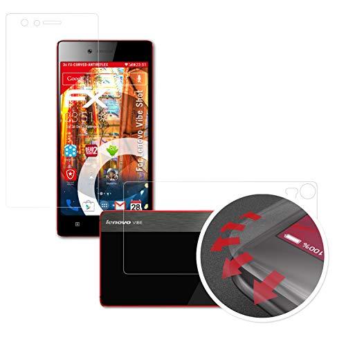 atFolix Schutzfolie kompatibel mit Lenovo Vibe Shot Folie, entspiegelnde & Flexible FX Bildschirmschutzfolie (3er Set)